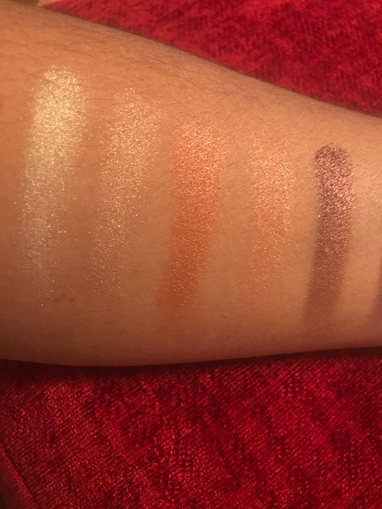 SHIMMERS ... single swatch. No packing on, primer, or fix+