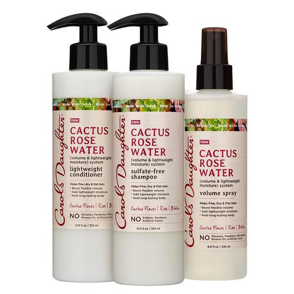 Carol's Daughter Cactus Rose Water moisturizing, volume collection. Get it here:  https://bit.ly/2KWEeJP