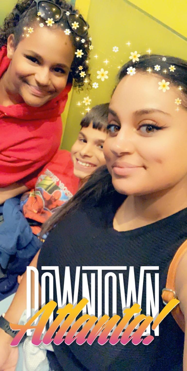 My Kids and I .. Janiyah (13) & Mikey (9)